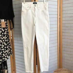 "J. Crew size 27 white 9"" high rise toothpick jeans"